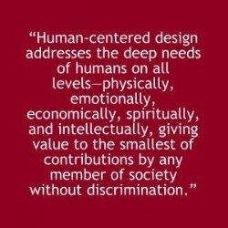 human centered design wording